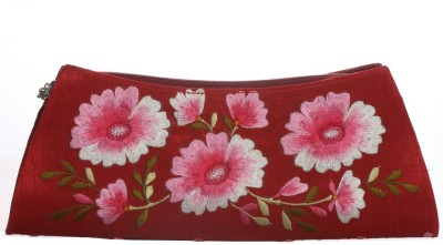 Soulful Threads Festive Maroon  Clutch