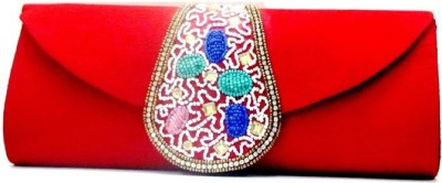 Sunita Fashion Red  Clutch