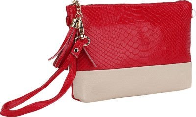 Bling It On Women, Girls Party, Casual, Festive, Wedding, Formal Red  Clutch