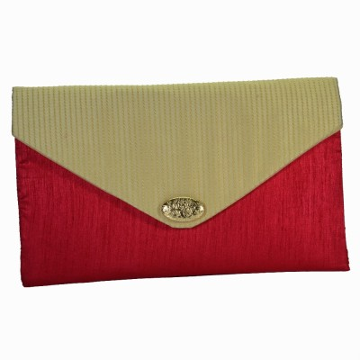 Arisha kreation Co Women Casual Beige, Red  Clutch