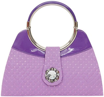 Swan Collection Girls, Women Casual, Festive, Party Purple  Clutch