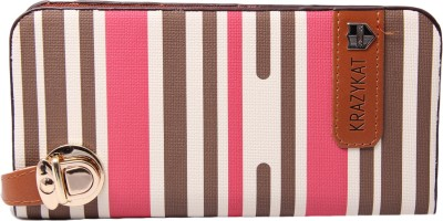UC Party, Formal, Festive Pink, Brown  Clutch