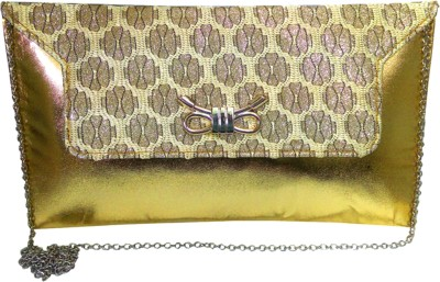 X-WELL Wedding, Party Gold  Clutch