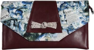 Eleegance Accessories Women Casual Maroon  Clutch