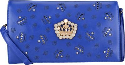 Leora Casual Blue  Clutch