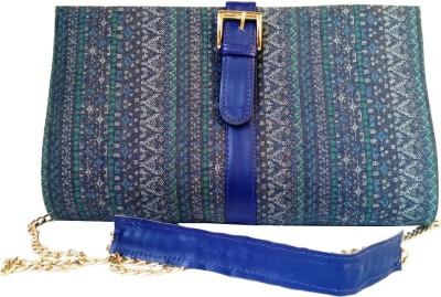 Shor Sharaba Women Party Blue  Clutch