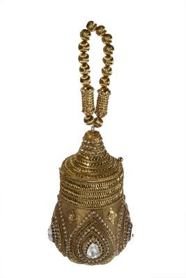 Shree Kala Fashions Gold  Clutch