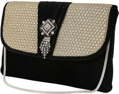 Balee Fashions Women Party Black  Clutch