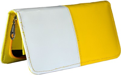 Magiq Women Casual, Formal White, Yellow Artificial Leather Wallet