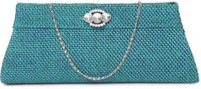 Kraftrush Women Casual Blue  Clutch