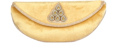 Designish Casual Yellow  Clutch
