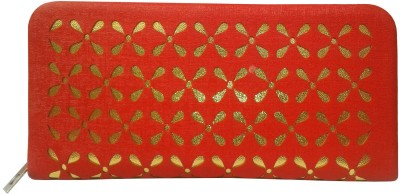 Sanshul Formal, Party Red, Gold  Clutch