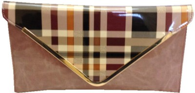 Russo Fashion Women Casual, Party Brown  Clutch