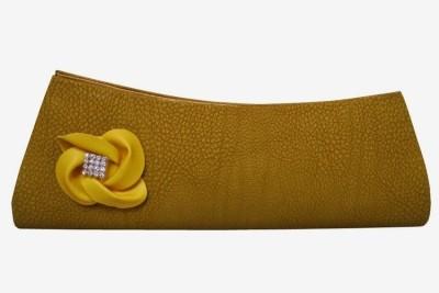 MTE Women Formal, Party Yellow  Clutch