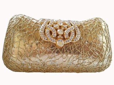 Srmgifts Gold  Clutch