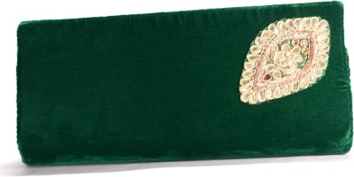 Arisha kreation Co Women Casual Green  Clutch