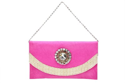 Tripssy Women Casual, Party Pink  Clutch