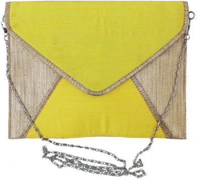 Craftbazaar Yellow  Clutch