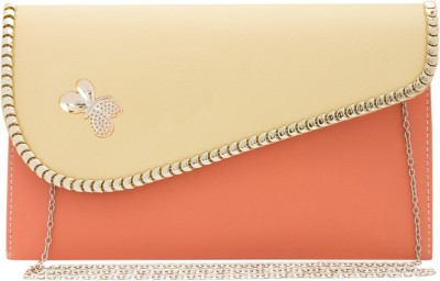 Polki Casual, Party Beige, Pink  Clutch