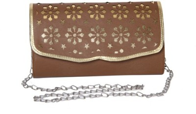 Kuero Party, Wedding, Festive, Casual Brown, Gold  Clutch