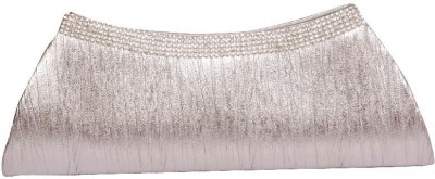 Homeshopeez Women Casual, Party Silver  Clutch