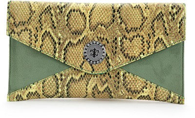 Elligator Women Party Green  Clutch