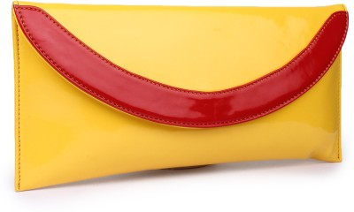Do Bhai Women Party Yellow, Red  Clutch