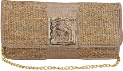 Vdesi Ethnic Women Festive, Formal, Party, Wedding Gold  Clutch