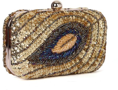 Zotti Women Festive Gold  Clutch