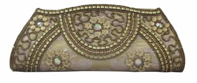 Maayas Party Yellow  Clutch