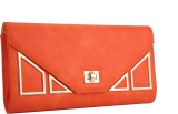 Fur Jaden Women Casual Orange  Clutch