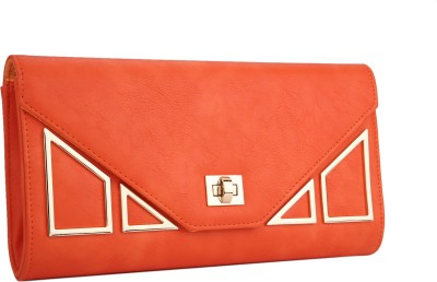 Fur Jaden Women Casual Orange  Clutch