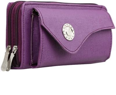 Magiq Women Casual Purple  Clutch