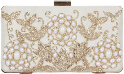 Arti J. Girls, Women Wedding, Festive, Party Beige  Clutch