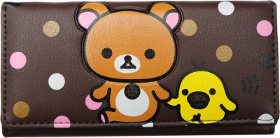 Tripssy Girls, Women Casual, Formal, Travel, Trendy Brown Artificial Leather Wallet