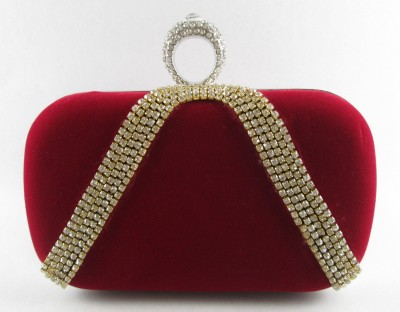 Indostyle Women Party Red  Clutch