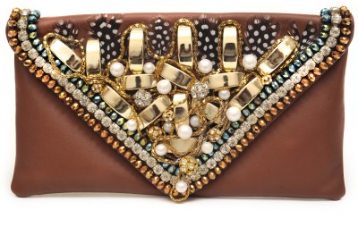 SG Collection Women Casual Brown  Clutch
