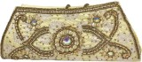 Maayas Women Party Gold  Clutch