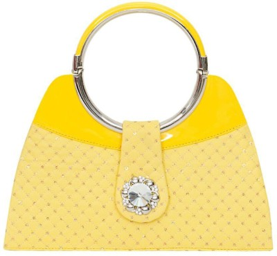 Swan Collection Girls, Women Casual, Festive, Party Yellow  Clutch