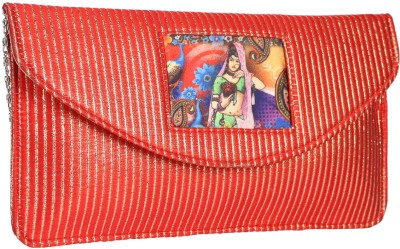 Vdesi Women Casual, Festive, Party, Wedding Red  Clutch