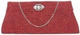 Kraftrush Women Casual Red  Clutch