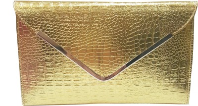 RaviCollections Wedding, Casual, Party, Festive Gold  Clutch