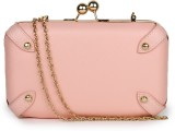 Amatra Women Party, Casual Pink  Clutch