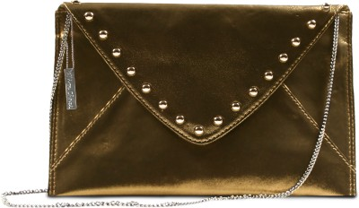Miss Chase Women Party Gold  Clutch