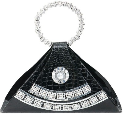 Swan Collection Women Party Black  Clutch