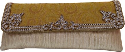 HAND CRAFT Yellow  Clutch