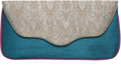 Anekaant Women Casual, Party Blue, Grey  Clutch
