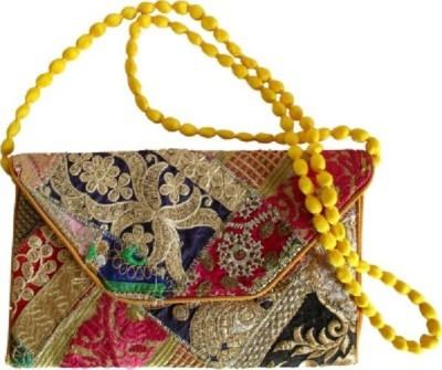 HanumantCreations Wedding, Party, Festive Orange, Yellow, Multicolor  Clutch