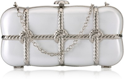 Aadi And Sons Women Festive, Casual White  Clutch