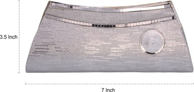 Vendee Fashion Party Silver  Clutch